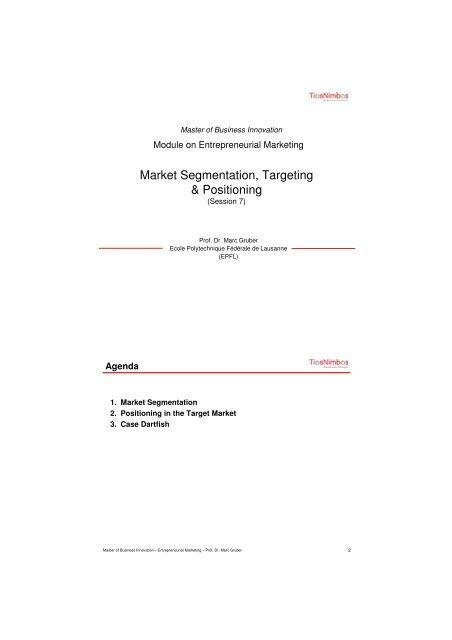 S7market Segmentation Targeting Positioning Dirk Jan