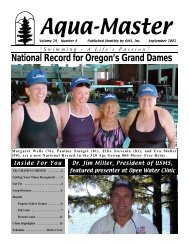 National Record for Oregon's Grand Dames - Oregon Masters ...