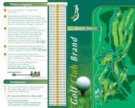 Scorekarte - Golf Club Brand