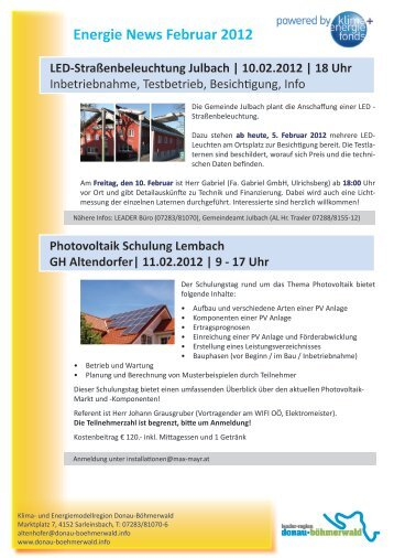 Energie News Februar 2012
