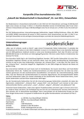 Zukunft der Modewirtschaft in Deutschland - ZiTex
