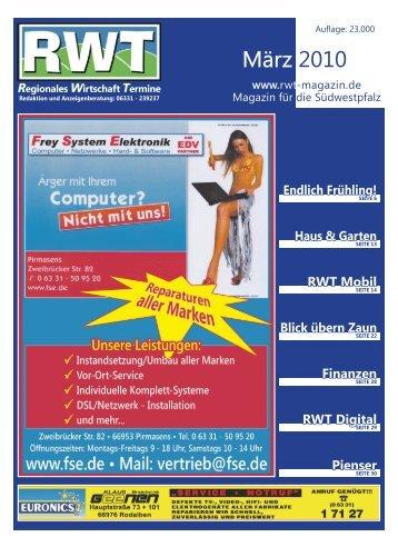 März 2010 - RWT - Magazin für die Südwestpfalz