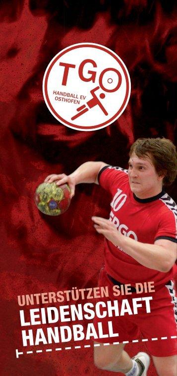 Sponsorenflyer - TG Osthofen Handball eV