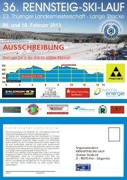 09. und 10.02. 2013 Teilnehmertombola am ... - Rennsteig-Skilauf