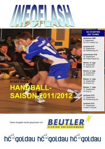 Infoflash August 2011 - Handballclub Goldau