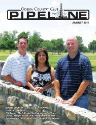 August 2011 Pipeline - Odessa Country Club