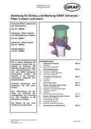 Anleitung für Einbau und Wartung GRAF Universal – Filter 3 extern ...