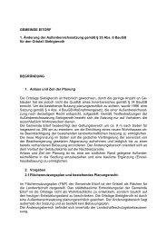 Begründung zur erweiterten Abrundungssatzung - Eitorf
