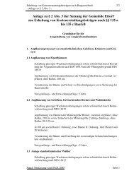 Anlage zu § 2 Abs. 3 der Satzung der Gemeinde Eitorf zur Erhebung ...