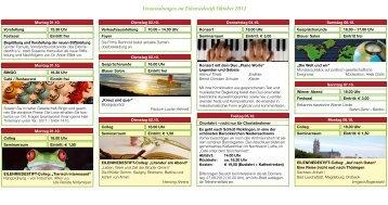 Veranstaltungen im Eilenriedestift Oktober 2012