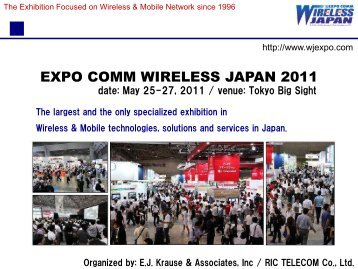 expo comm wireless japan 2011 - EJ Krause & Associates, Inc ...