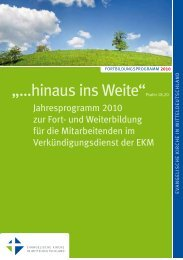 Fortbildungsprogramm 2013.pdf - Evangelische Kirche in ...