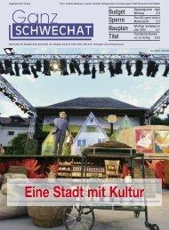 Eine Stadt mit Kultur - Stadtgemeinde Schwechat