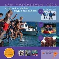 EJW Freizeitprospekt 2013 - Evangelisches Jugendwerk Darmstadt eV