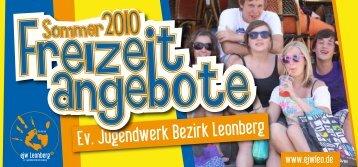 (9-13 Jahre) gemischt vom 01.08. - Evangelischen Jugendwerks im ...