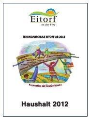 (Ergebnis-)Haushalt 2012 - Eitorf