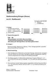 Spezielle artenschutzrechtliche Prüfung (saP) - Stadt Ehingen