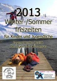Freizeitprospekt 2013 - Evangelisches Jugendwerk Öhringen