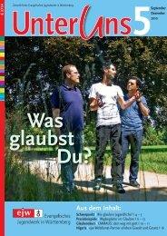 Aus dem Inhalt: - Evangelisches Jugendwerk in Württemberg