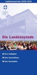 Die Landessynode - Evangelische Landeskirche in Baden