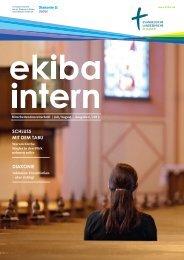 Mitarbeitendenzeitschrift Ekiba Intern / Juli/August / Ausgabe 6/2012
