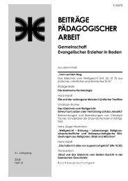 beitra¨ge pa¨dagogischer arbeit - Evangelische Landeskirche in ...