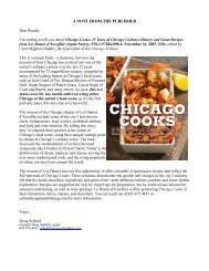 A NOTE FROM THE PUBLISHER - Chicago Originals