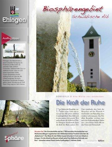Die Kraft der Ruhe - Stadt Ehingen