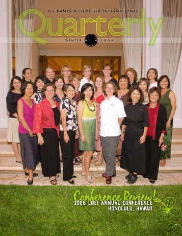 Winter 2009 - Les Dames d'Escoffier International