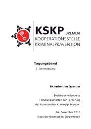 Tagungsband - Kooperationsstelle Kriminalprävention Bremen