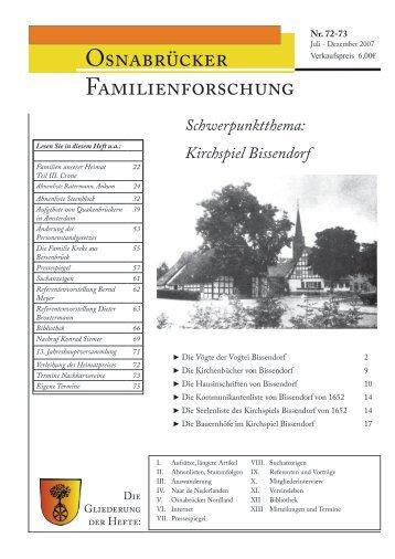Heft 72-73 (Juli-Dez. 2007) - Arbeitskreises Familienforschung ...