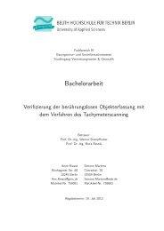 Bachelorarbeit - Beuth Hochschule für Technik Berlin