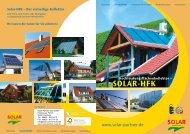 SOLAR-HFK - Solarwärme Solarstrom Flächenheizungen ...