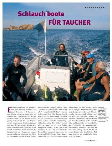 AQUANAUT: Schlauchboote für Taucher - Dietrich Hub