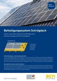 Befestigungssystem Schrägdach - SCN-Energy