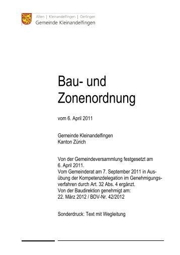 Bau- und Zonenordnung 2012 mit Wegleitung - Gemeinde ...