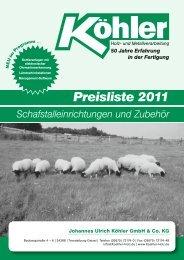 Preisliste 2011 - Goneo