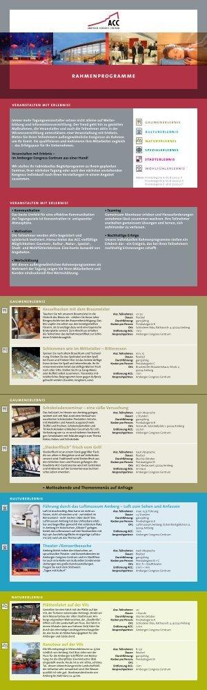 rahmenprogramme - Amberger Congress Centrum