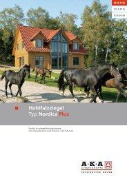 Hohlfalzziegel Typ Nordica Plus