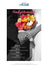 Hochzeitsmappe 2012 - Hotel Forelle