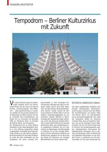 Tempodrom – Berliner Kulturzirkus mit Zukunft - Fassade