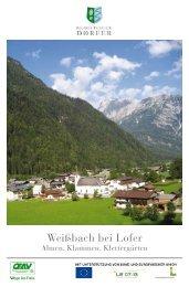 Weißbach bei Lofer - Bergsteigerdörfer