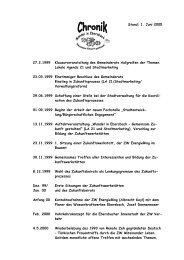 1. Juni 2005 27.2.1999 Klausurveranstaltung des Gemeinderats ...
