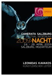 2009>naCht - Camerata Salzburg