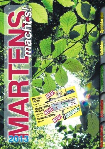 Martens Katalog 2013 - MARTENS Forsttechnik GmbH