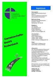 Gemeinschafts- Bezirk Rodenbach - Evangelischer ...
