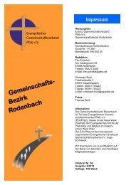 Bezirk Rodenbach - Evangelischer Gemeinschaftsverband Pfalz e.V.