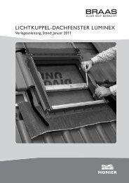 LICHTKUPPEL-DACHFENSTER LUMINEX - Braas