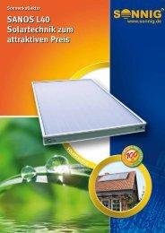 SANOS L40 Solartechnik zum attraktiven Preis - Pichler Systemtechnik