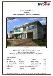 NEU!!! 250 m² VILLA Traumhaus mit Wärmepumpe und ... - Iproton